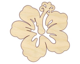 Hibiscus Flower - Unfinished Wood - 170451