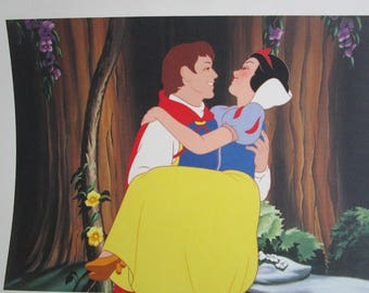 Vintage Snow White Golden Book and Lithograph Prints