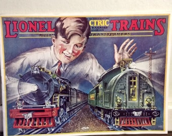 Vintage Lionel Trains Catalog from 1929, Reproduction from 1972 new