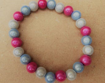 NEW Hand Crafted Miracle Bead Transgender 'Glow' Bracelet