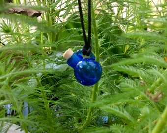 Cobalt blue blown glass essential oil or perfume vessel