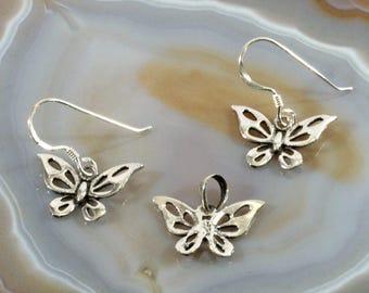 Butterfly , jewelery set  --  1906