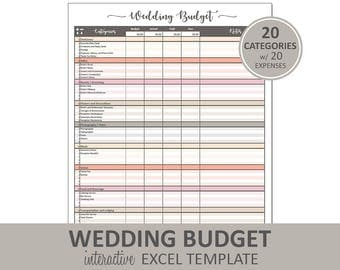 Peachy Wedding Budget - Wedding Budget Printable | Excel Wedding Budget Planner | Wedding Expenses Tracker | Instant Digital Download