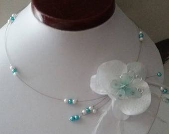 Necklace Orchid Butterfly wire hypoallergenic available on wedding