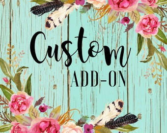 Custom Add-On to any existing Adult design (back design)