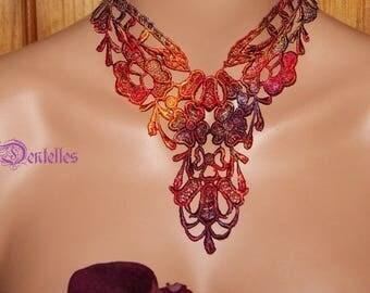 UNIQUE Rainbow necklace * 3 lace *.