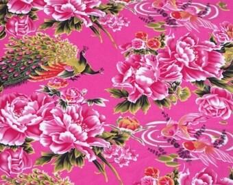 cotton fabric light pink vintage Chinese 10 m