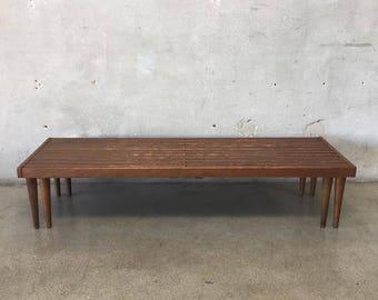 Mid Century John Keal For Brown Saltman Slat Bench (C234G5)
