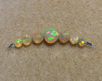 Faceted round Opals, Ethiopian Welo Opals, Opal beads