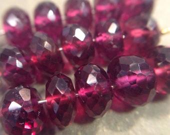 Faceted Rhodolite Garnet beads