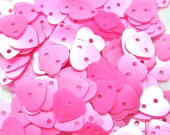 100 GLITTER HEART ROSE 2 9/9 MM HOLES