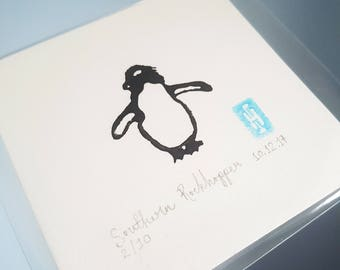 Mini Penguin Linoprint | Limited | Lino | Signed | Dated | Numbered