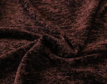 Fausse fourrure marron : 50 cm x 150 cm (2)