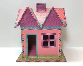 Fairy Doll House, Fairy House for Child, Little Pink Doll House, Pink Fairy Doll House, Small Doll House, Fairy Doll House for Little Girl