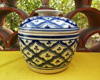 Ancient white ceramic pottery and cobalt blue from Chaozhou Fengxi Guandgdong first republic of China 1930