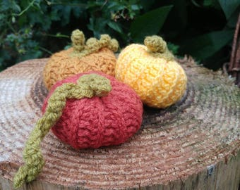 Crochet pumpkins. Crochet squash. Wool decorations. Autumn decorations. Pumpkin decorations. Fall decorations. Crochet decorations.