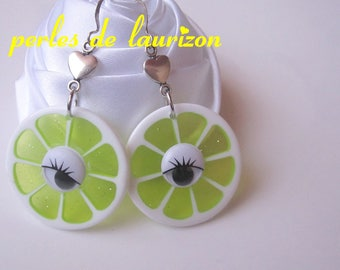 lemon yellow earrings
