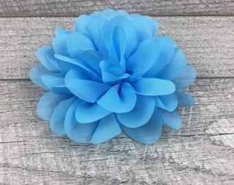 "4"" Baby Blue Chiffon | Flower for Dog Collar | Medium/Large Dog | CupcakePups"