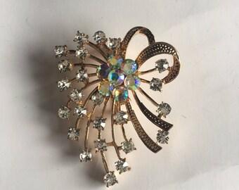 Brooch Pin Aurora Borealis Vintage