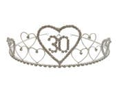 30th Birthday Tiara Diamante Crystal 30th Crown 30th Birthday Gift Idea