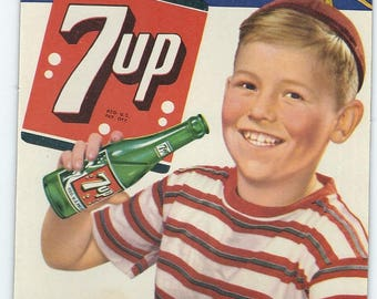 FRESH UP WITH 7-Up 1949 7-Up Unused Bottle Topper