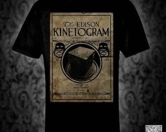 Hellraiser Kinetogram vintage style T-shirt, retro movie film horror edison pinhead lament cenobite monster
