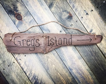 Driftwood Custom Sign - one wood burned sign with engraved message of your choice   Personalized Gift   Welcome Sign Beach Decor Beach Sign