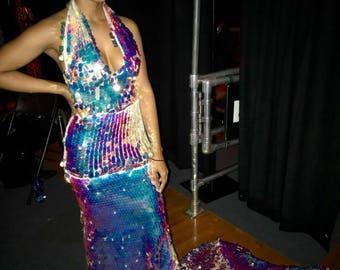 Custom Mermaid Sequins Dress