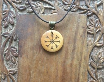 Helm of Awe wooden necklace