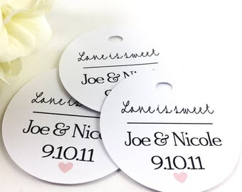 Personalized Wedding Favor Tag, Love is sweet, Wedding Tag, Wedding Favor, Gift, Favor, Wedding Guest