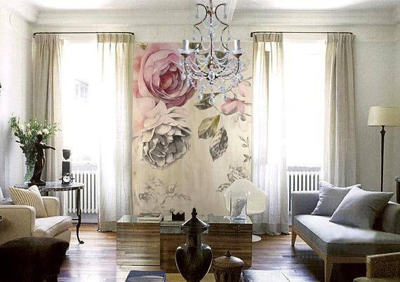 Vintage Rose Wallpaper Poesie Blumen Wand Aufkleber Kunst