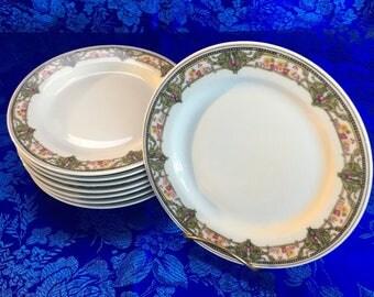 """Set of 4 of 8 Antique Bawo & Dotter Elite Works Limoges 6"""" Bread or Side Plates France"""