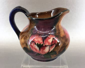 Antique Tunstall English Pottery Floral Cream Pitcher