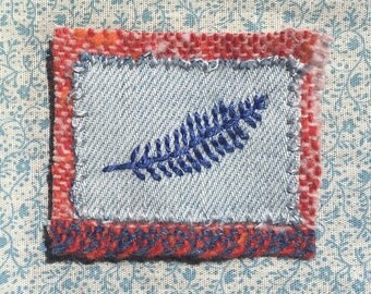 Leaf Patch | Hand embroidery
