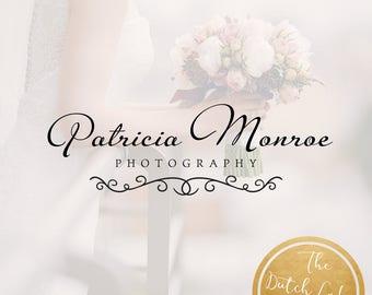 Premade Photography Logo Design - Delivered in Black, White & Gold Color - Design #12 - Patricia Monroe
