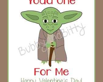 Schön Yoda One For Me, Yoda Valentine, Printed Valentine, Valentine Cards, Yoda,