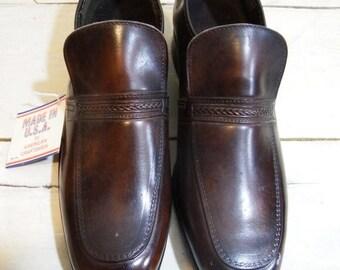 ON SALE mens shoes - mens vintage shoes - oxford shoes - dress shoes men -brown shoes -  mens loafers