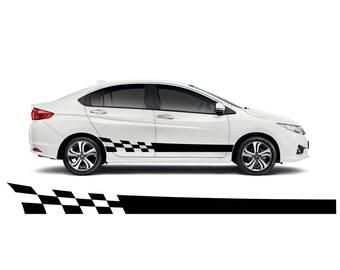 Side Racing Stripes, Car Decal, Car Sticker, Tuning Stickers, Racing Stickers, Rasing Stripes, Car Tuning Decal, Kit Set