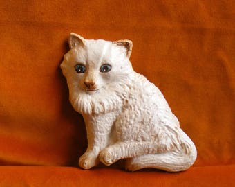 Miney Mo.  Cute Kitten, hand made, hand painted plaque.