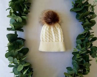 Newborn Pom Hat