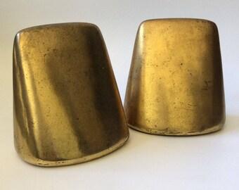 Ben Seibel MidCentury Modern Curved Brass Bookends for Jenfred