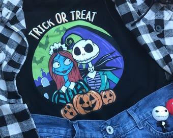 Nightmare Before Christmas Haunted Mansion- Disney Halloween Shirt - Mickey Not So Scary Halloween Party