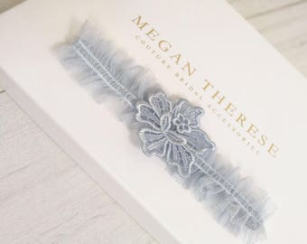 blue garter, wedding garter, luxury garter, something blue, lace garter, bridal