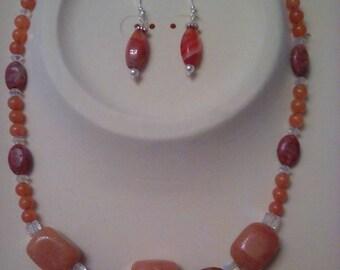 Golden  Aventurine necklace set
