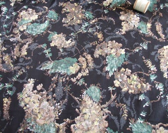 vintage, yardage, of 1950',s floral abstract, cotton, dressmaking fabric