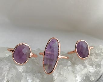 Amethyst Rose Gold Ring // Amethyst Ring //
