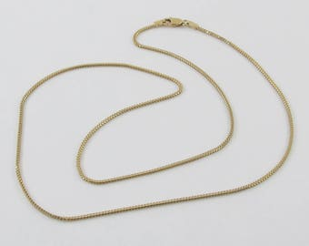 14k Yellow Gold Franco Chain Necklace 16 Inches 2.7 grams
