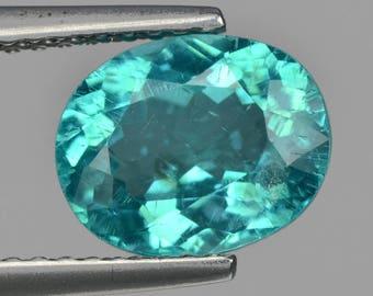 Paraiba Blue Apatite 2.05 Cts Oval Loose Gemstone Fpd3