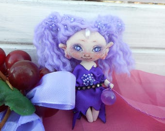 Pendant in the car, toy, elf Violette