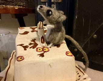 Needle felted Field Mouse